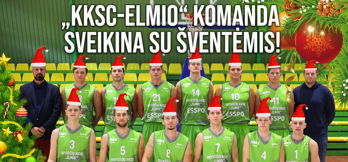 """KKSC-Elmio"" komanda sveikina su šventėmis!"